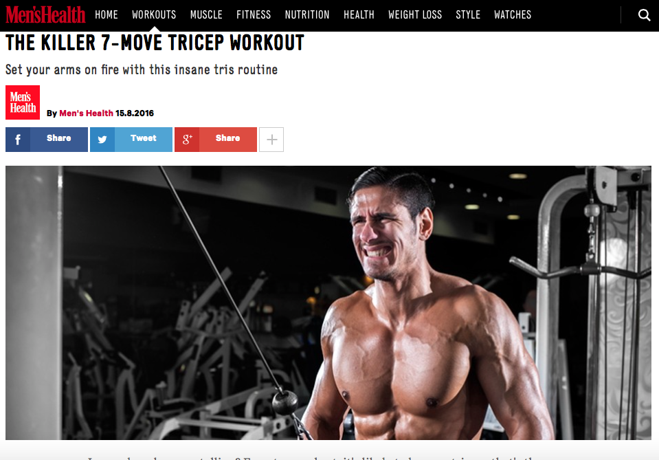The killer 7-move tricep workout