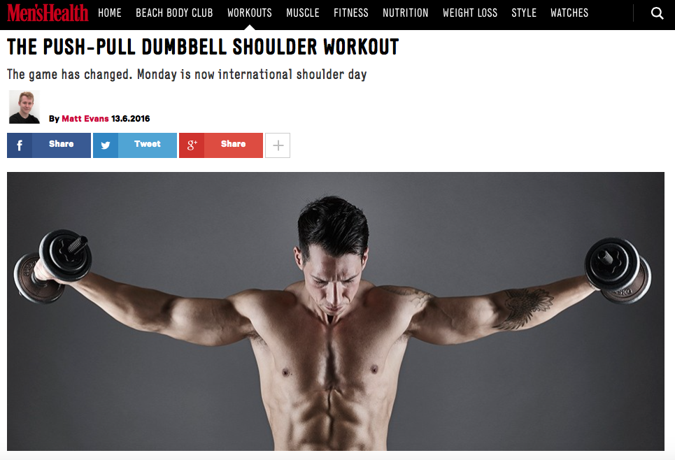 THE PUSH-PULL DUMBBELL SHOULDER WORKOUT by Alex Isaly for Men's Health UK