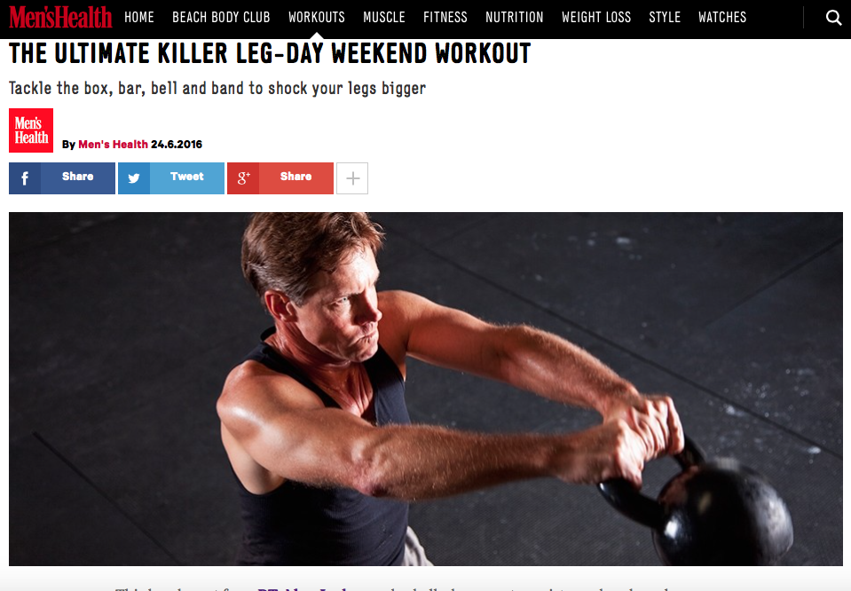 THE ULTIMATE KILLER LEG-DAY WEEKEND WORKOUT by Alex Isaly for Men's Health UK