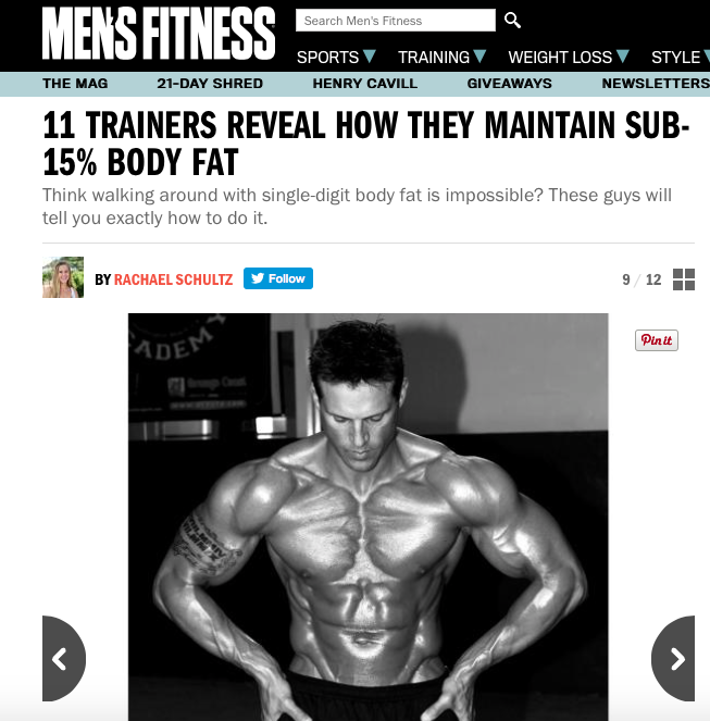 11 Trainers Reveal How They Maintain Their Body Fat % Below 15%