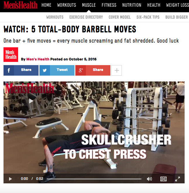 5 TOTAL-BODY BARBELL MOVES by Alex Isaly for Men's Health UK