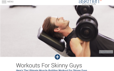 Workouts For Skinny Guys by Alex Isaly for ASKMEN.com