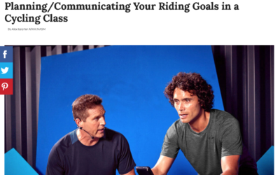 Planning/Communicating Your Riding Goals in a Cycling Class by Alex Isaly for AFAA/NASM